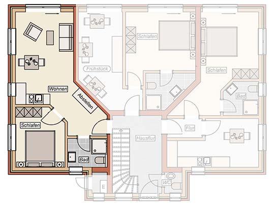 Zweiraum-apartment